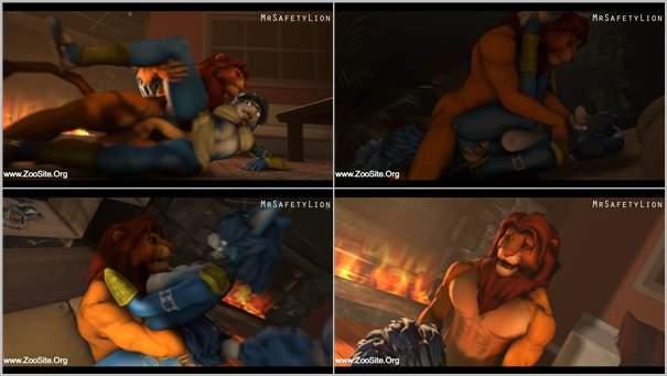 353 The Lion And The Vixen - The Lion And The Vixen - Bestiality Hentai Video
